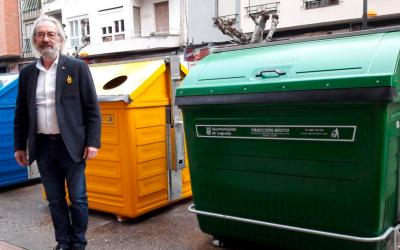 Logroño renueva los 2.200 contenedores verdes, amarillos y azules de la ciudad